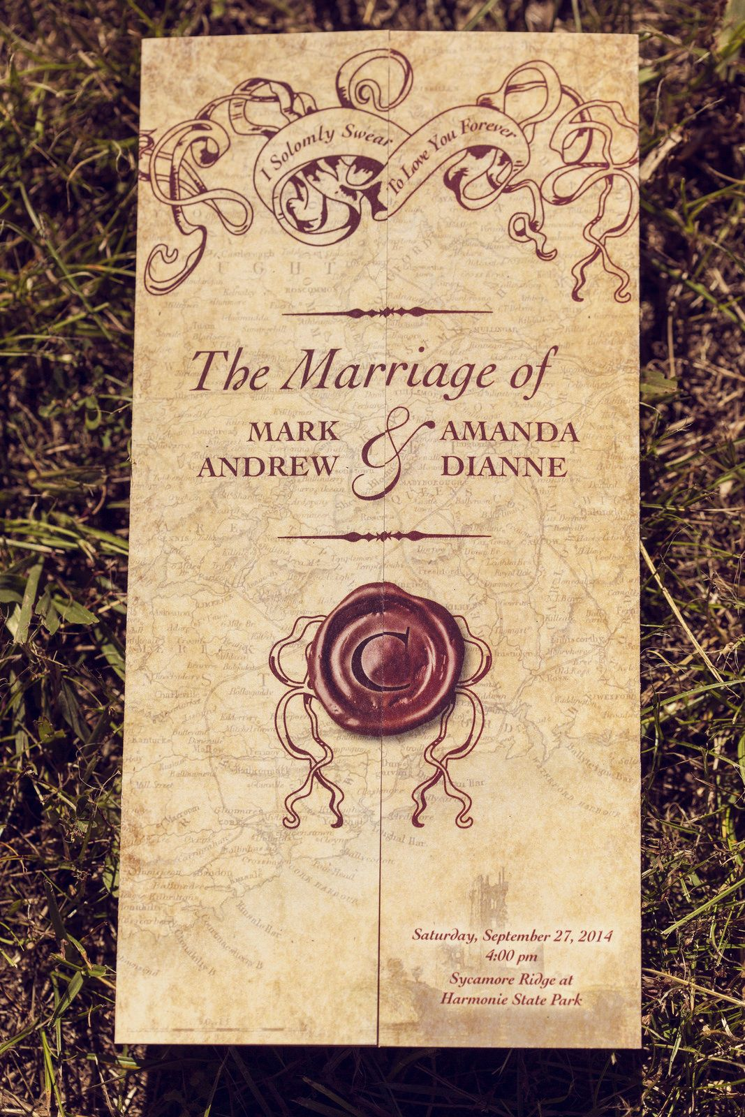skull wedding invitations Amanda Mark s elegant nature loving pagan and Christian wedding