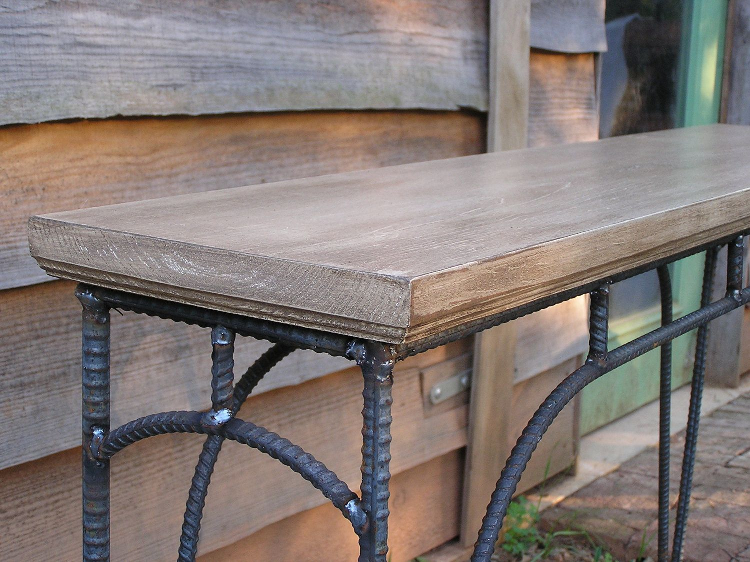 kitchen side table Custom Industrial Coffee Table Sofa Table Side Table 00 via Etsy