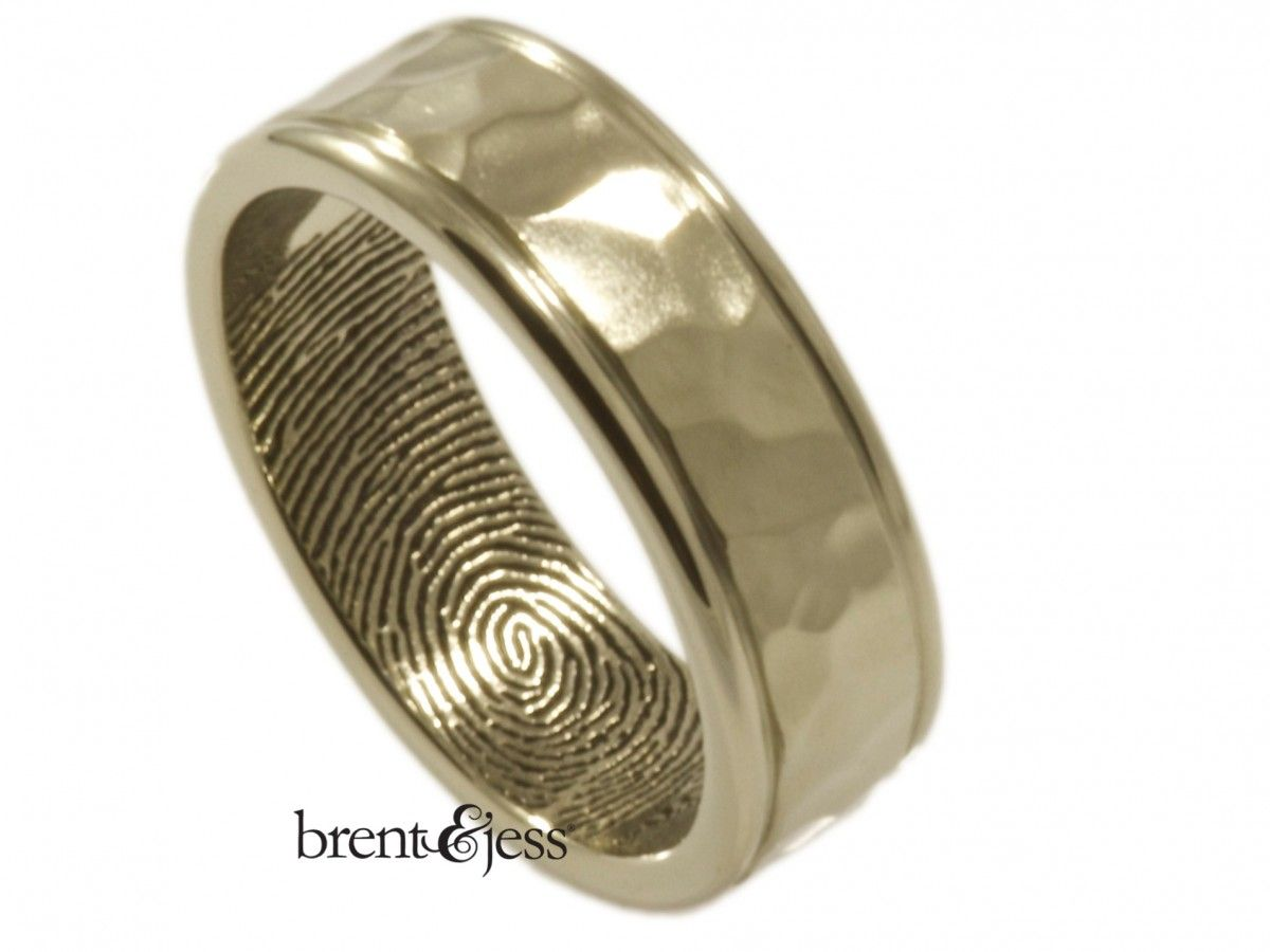 gay mens wedding rings fingerprint wedding ring men s white gold Google Search