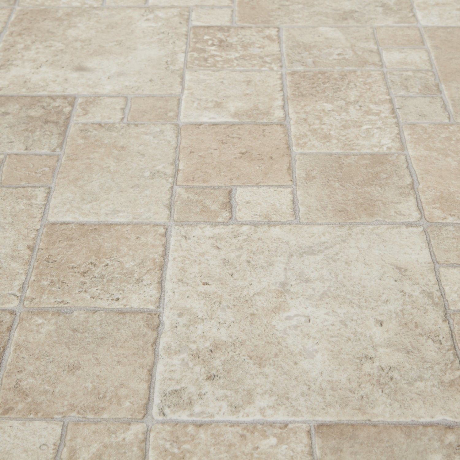 kitchen floor lino Safegrip Toucan Stone Tile Vinyl Flooring