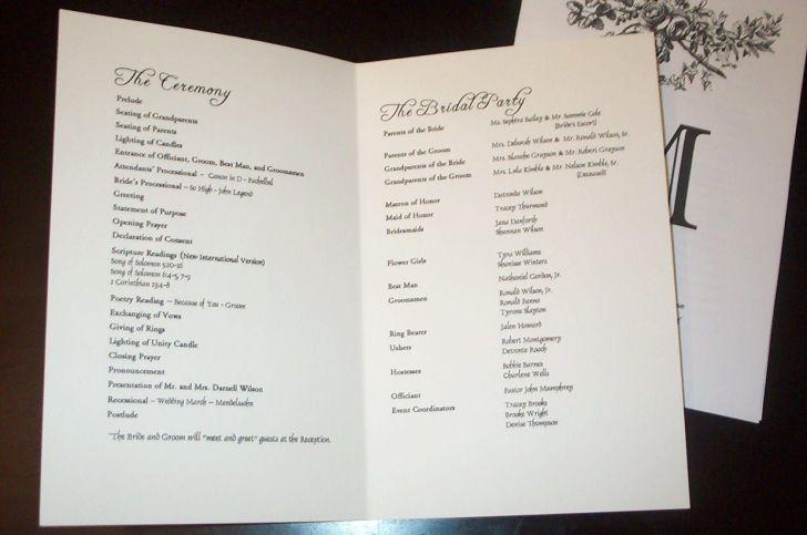 wedding programs Wedding Program Templates sample wedding programs templates