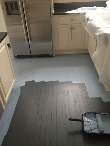 kitchen wood floors DIY How to Paint Wood Floors White Revisited DIY furniture Pinterest Hardwood floors My love and Paint wood floors