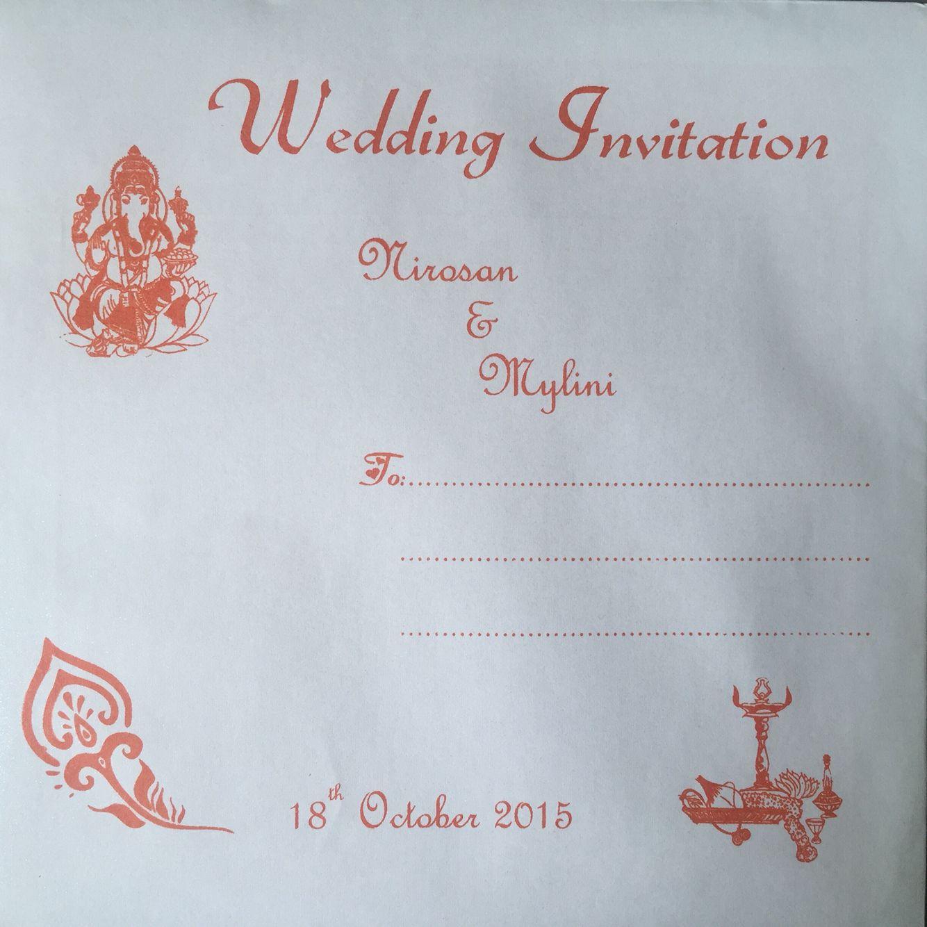 indian wedding invitation Indian wedding invitation card envelope orange
