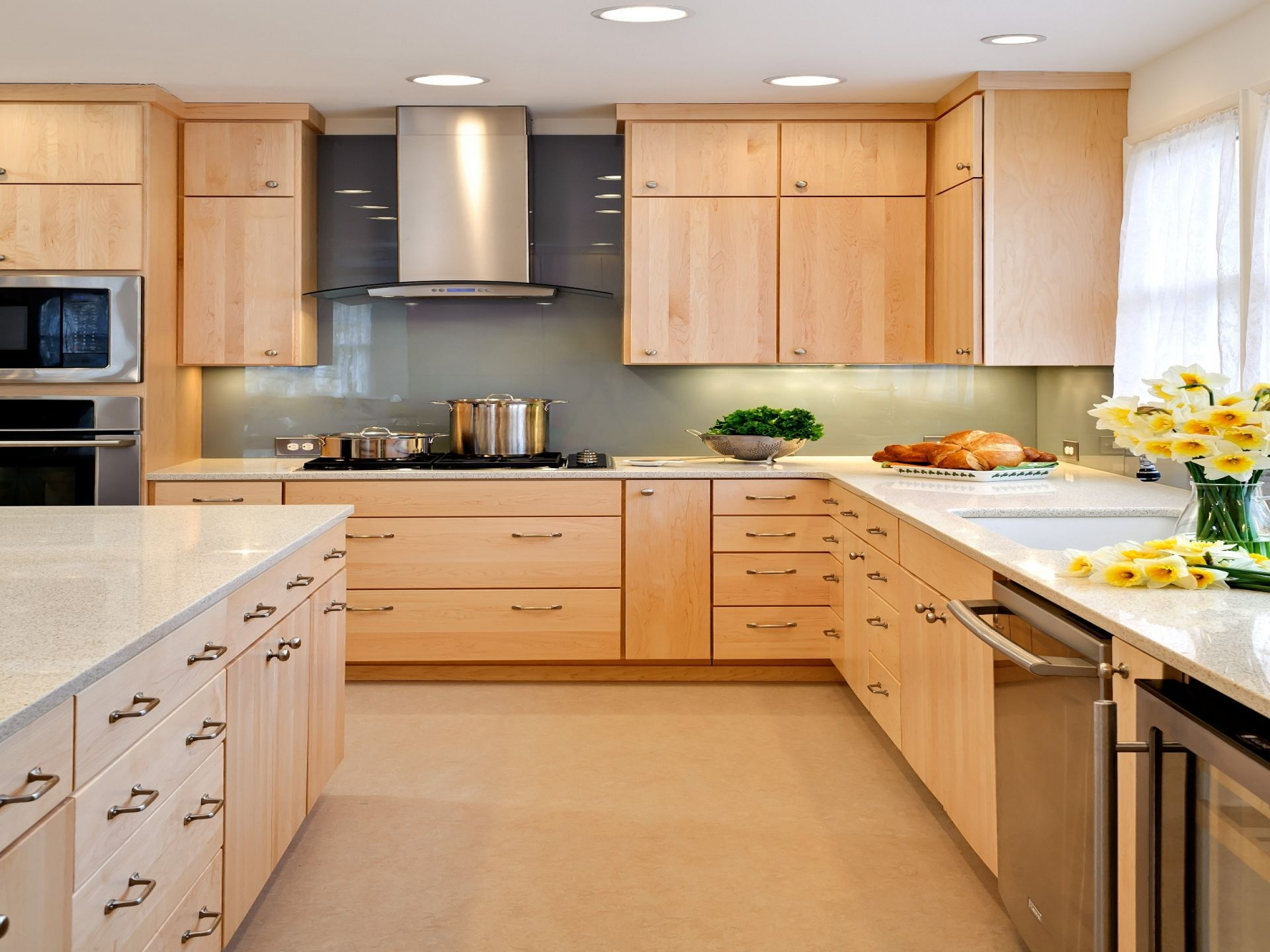 kitchens with maple cabinets Natural Maple Kitchen Cabinets Design Inspiration Kitchen
