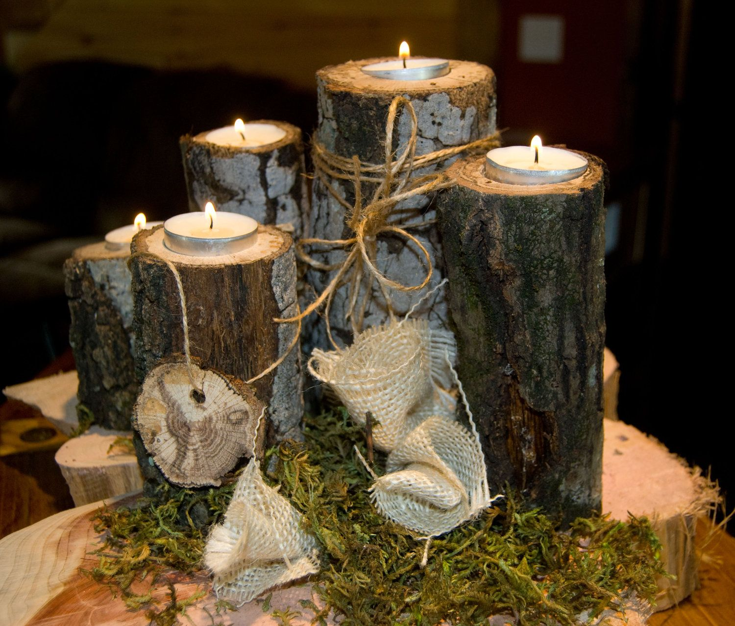 rustic wedding centerpieces Rustic Wedding Centerpiece cheap wedding centerpiece rustic wood centerpiece Candle Centerpiece fall