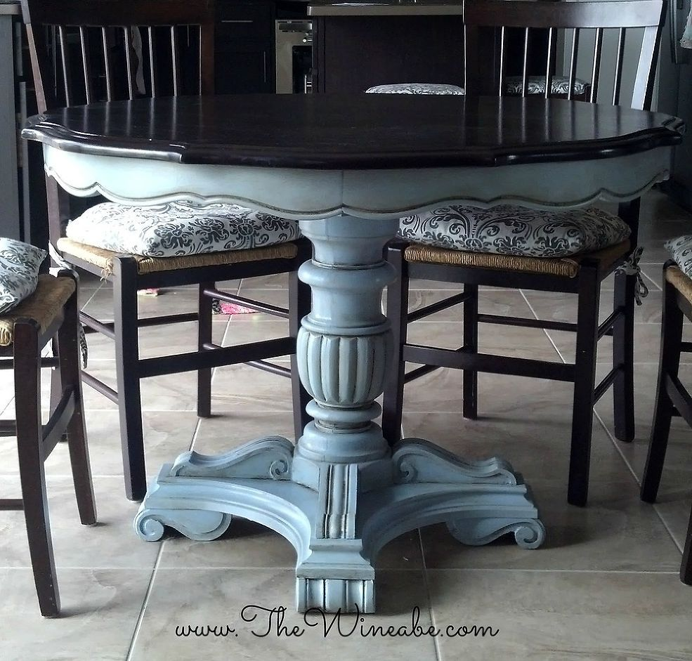 refinishing kitchen table Refurbished Craisglist Kitchen Table With Annie Sloan Chalk Paint