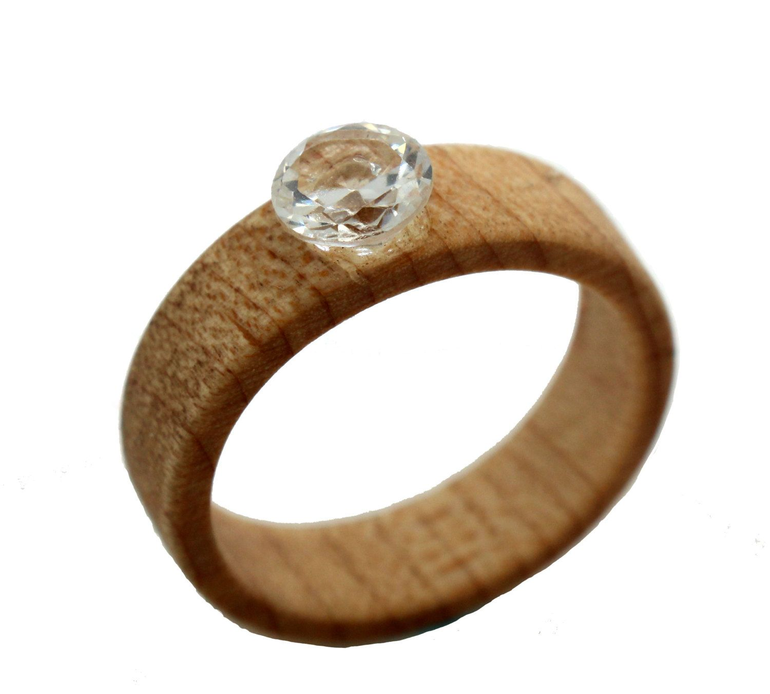 wooden wedding rings 5mm Sapphire Wooden Engagement Ring by WoodenWeddingRings on Etsy 00