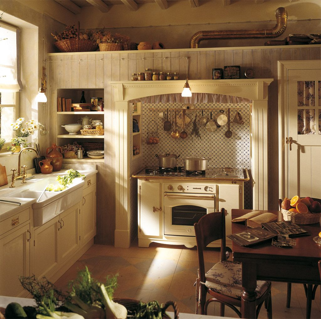 french country kitchen table English kitchens