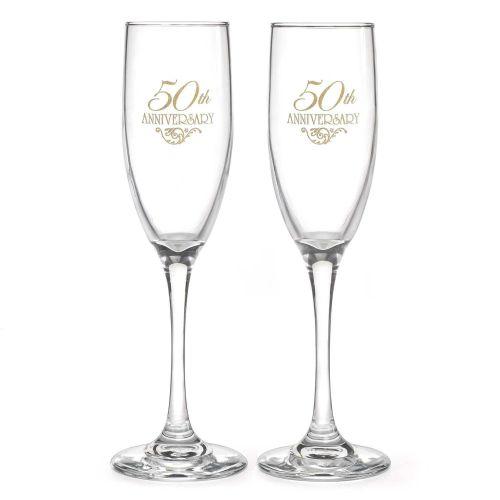 50th wedding anniversary 50th Wedding Anniversary Champagne Flutes