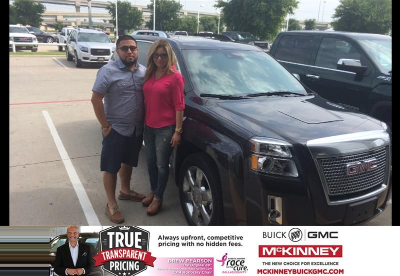 Thanks Brett for a great experience  Oscar and Ana Hipolito Tuesday     Congratulations to Oscar Hipolito on your from Brett Stein at McKinney  Buick GMC