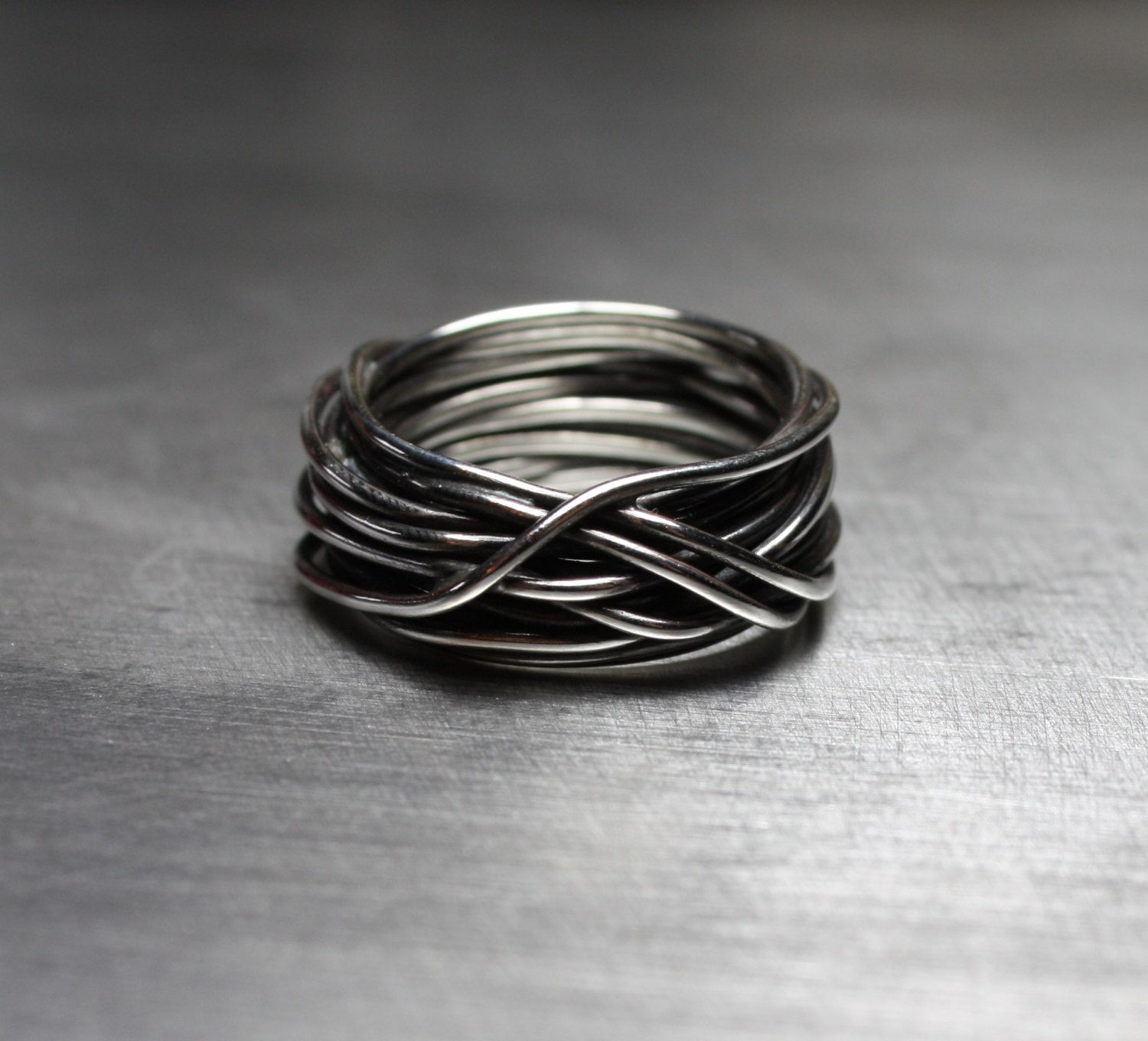 mens country wedding bands Men s Ring Men s Wedding Band Wire Wrapped Ring Rustic Ring by JenniferWood on