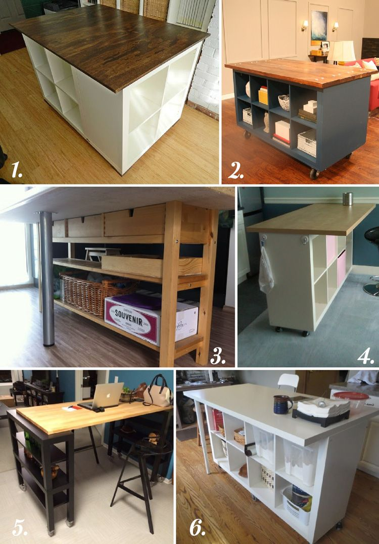 kitchen cutting table DIY CUTTING TABLE IDEAS FOR YOUR SEWING STUDIO
