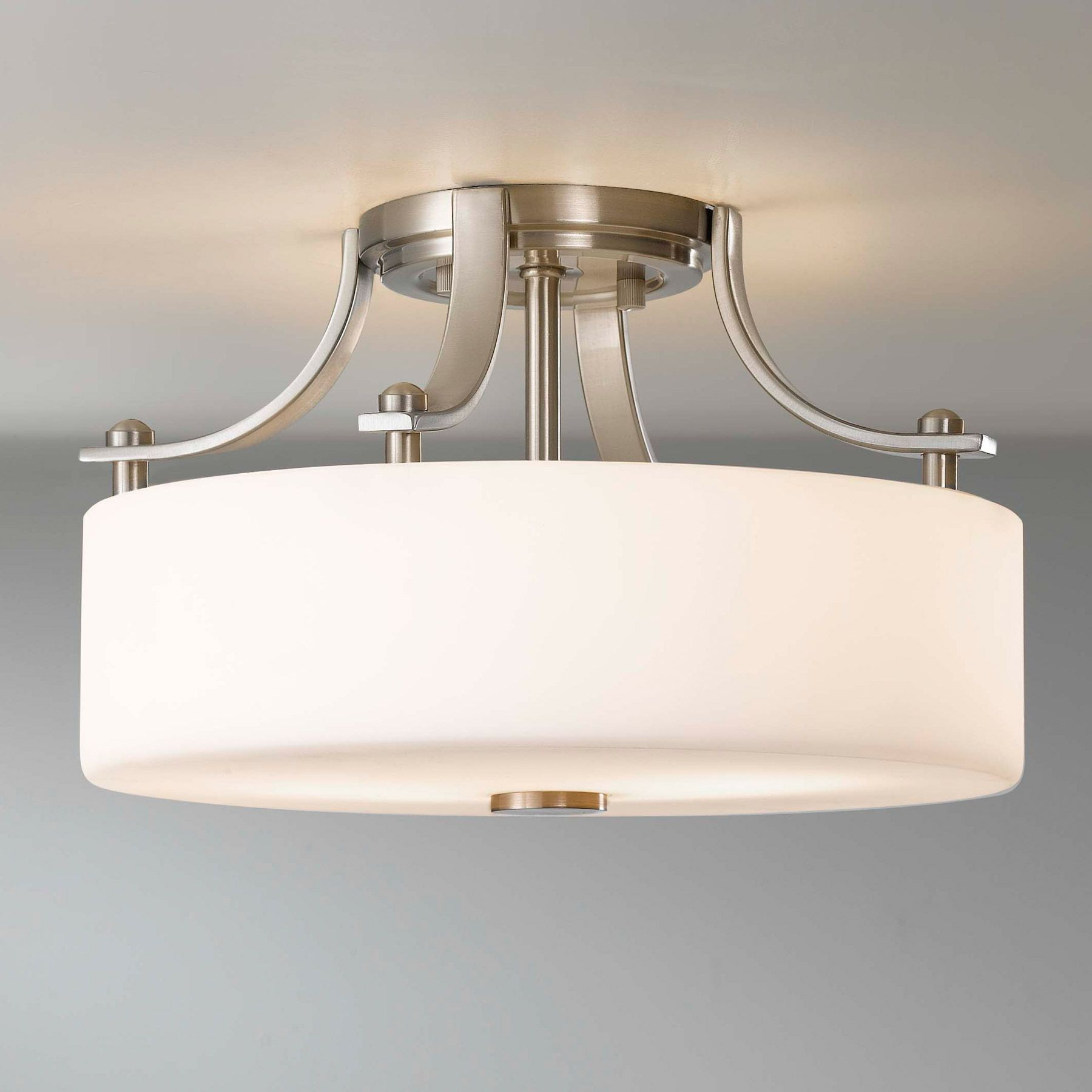 kitchen lighting flush mount White FlushMount Light Fixture