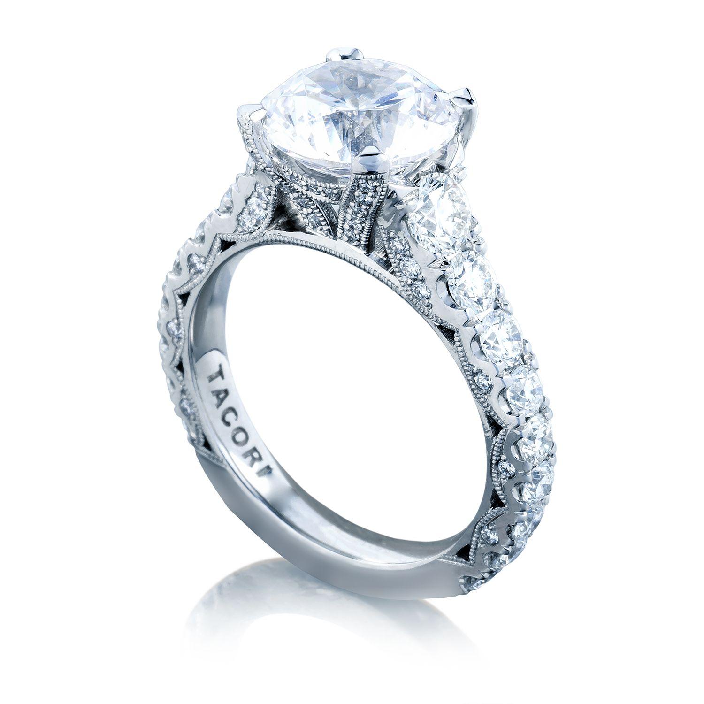 wedding ring settings Tacori RoyalT HT Round Engagement Ring Setting