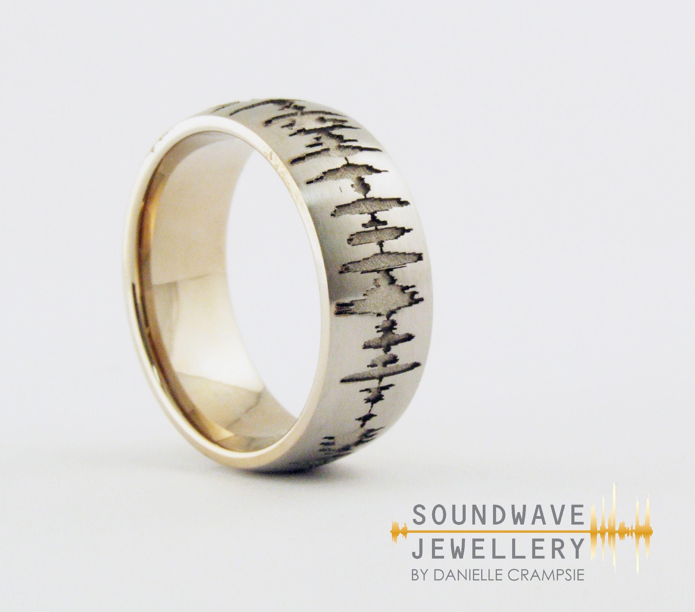 mens unique wedding rings Men s Custom Soundwave Wedding Ring create a unique