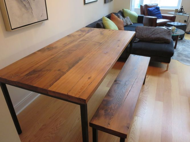 wooden kitchen table custom barn wood kitchen table with square metal frame