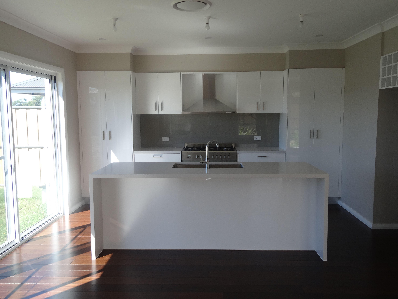 design your kitchen design your kitchen Formica Snowdrift Gloss cupboard Adriana Design built by Better Built Homes Design Your KitchenCupboard DesignCupboards