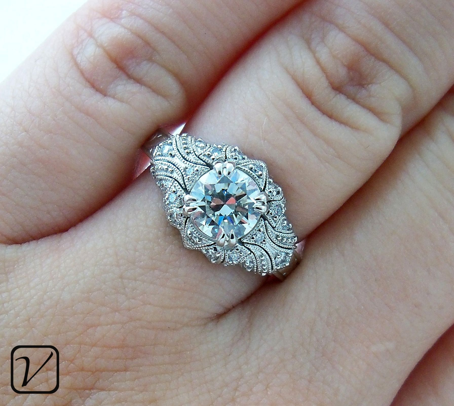 victorian wedding rings Antique Engagement Ring A Custom Design From Vanessa Nicole Jewels LOVE