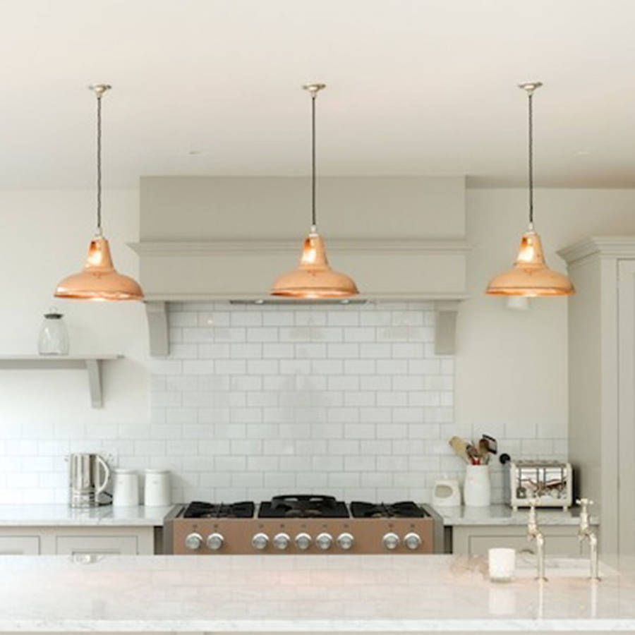 pendant lights for kitchen Coolicon Industrial Pendant Light Polished