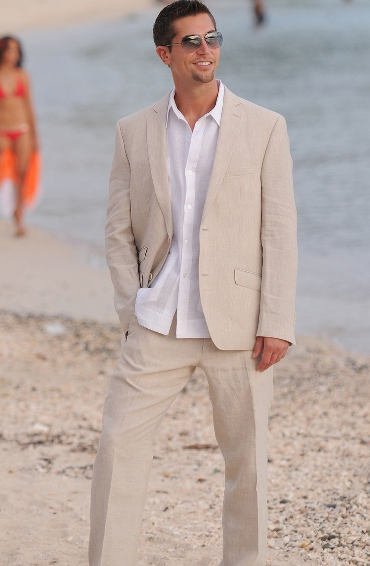 casual beach wedding dress Mens Beach Wedding Attire Ideas Black is not so suitable for daytime wear a black cocktail