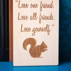 Fridge Magnet Quote Magnetic Plaque Friendship Gift Idea Squirrel