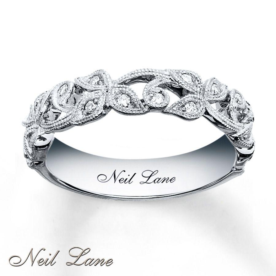 neil lane wedding bands kay diamond leaves band Neil Lane Designs Ring 1 8 ct tw Diamonds Sterling