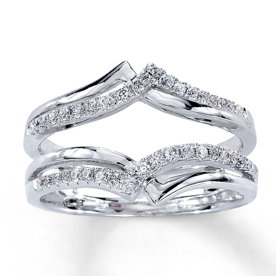 wedding band enhancers Diamond Enhancer Ring you put your engagement ring in the middle