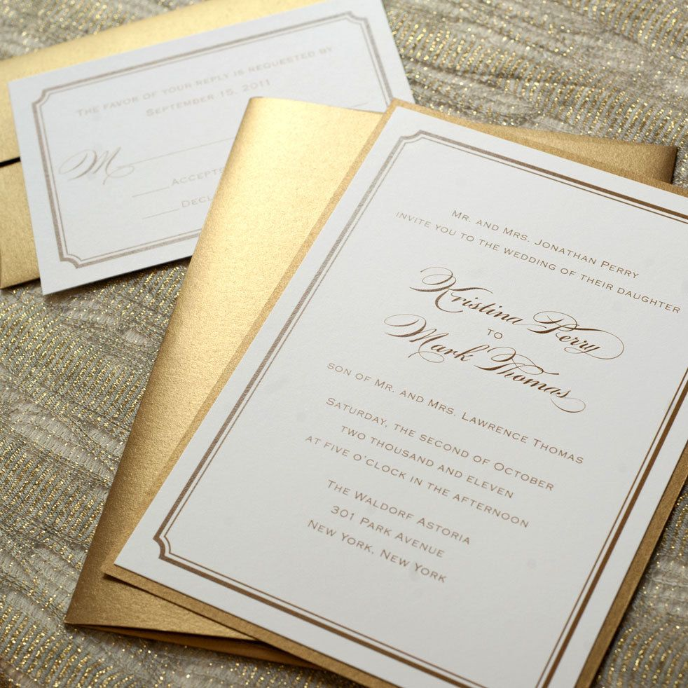 traditional wedding invitations Printable Wedding Invitations Simple Wedding Invitations Gold Wedding Invitations Digital Files for Self