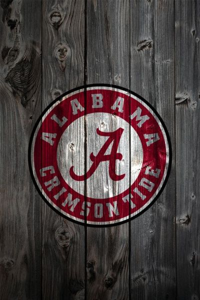 bama pics for football | Alabama Crimson Tide Logo on Wood Background – iPhone 4 wallpaper ...