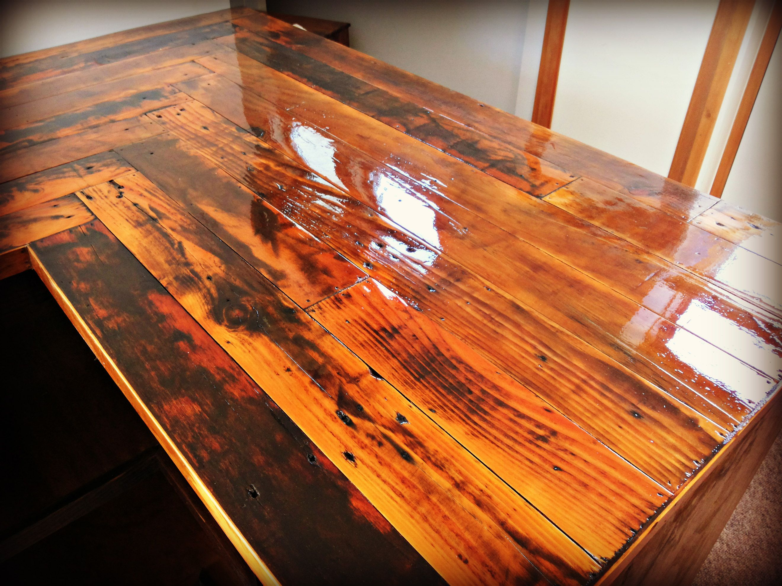 pallet countertop wooden kitchen countertops Kitchen Countertop made with reclaimed pallet wood cabinets