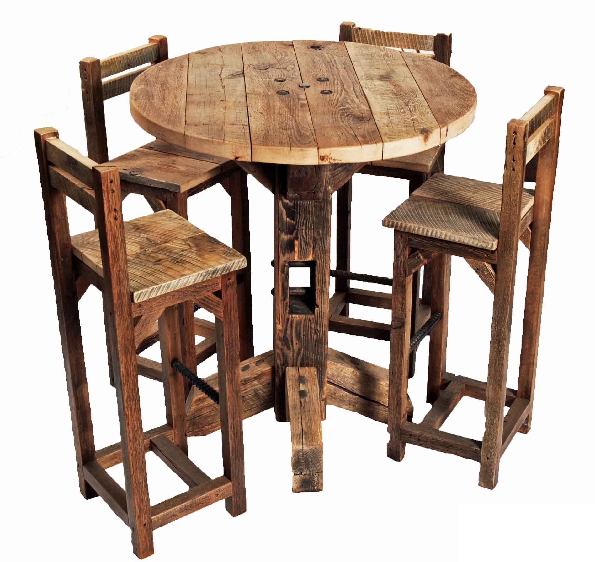rustic round kitchen tables rustic round kitchen table Rustic round kitchen tables Furniture Old Rustic Small High Round Top Kitchen Table And Chair