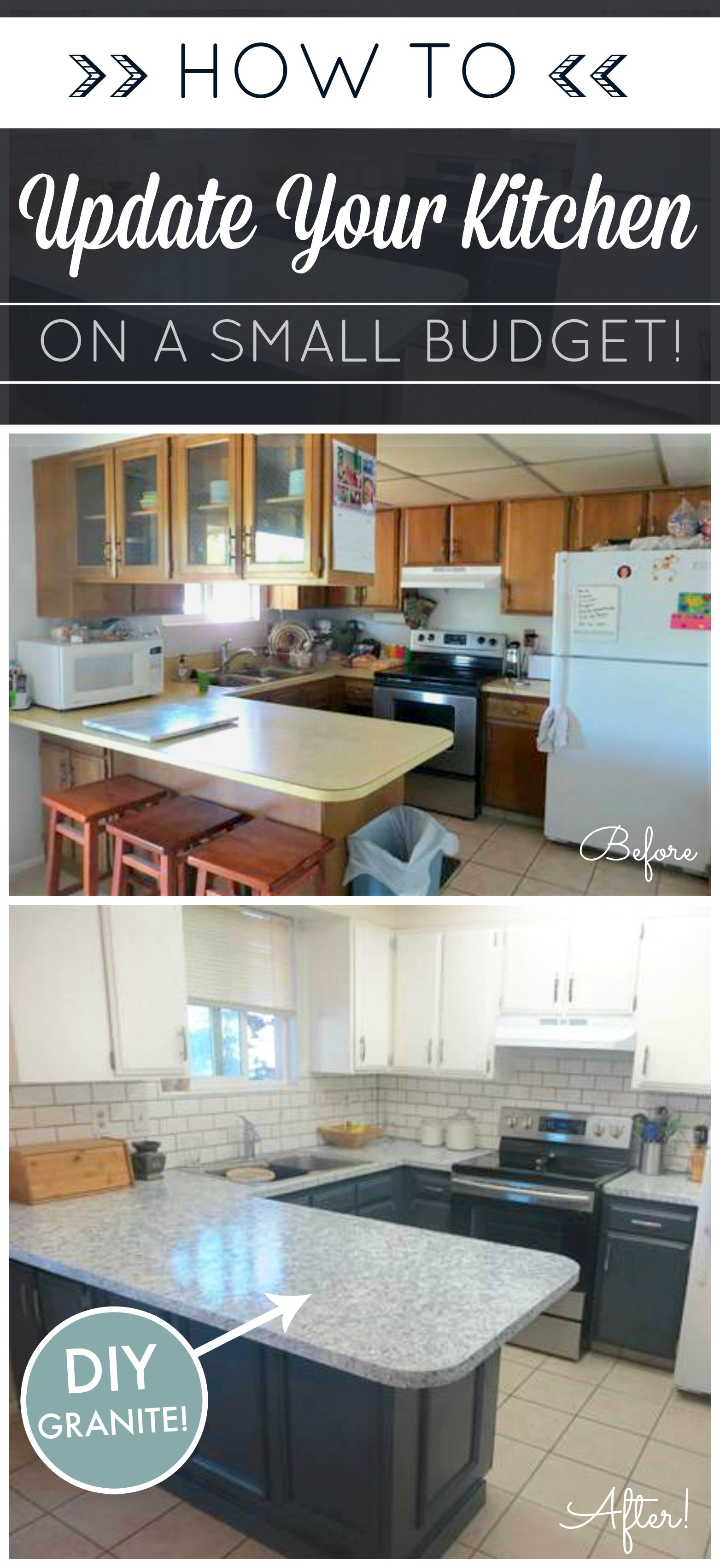 diamond kitchen cabinets DIY Kitchen Makeover on a Budget Giani Granite Countertop Paint kits transform existing counters to