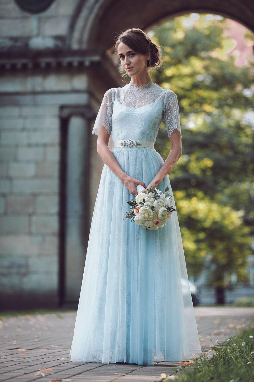 wedding dress blue Rhapsody in Blue Pale Blue Wedding Dresses by Katya Katya Shehurina