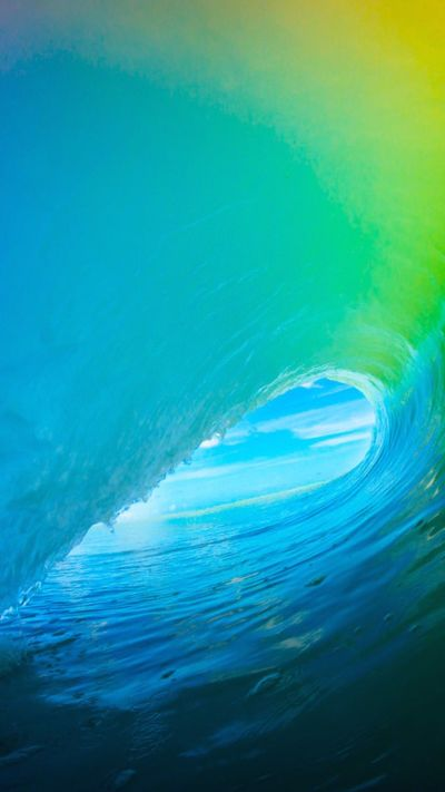 iOS 9 Colorful Surf Wave iPhone 6+ HD Wallpaper | iPhone Wallpapers | Pinterest | Surf wave, Hd ...
