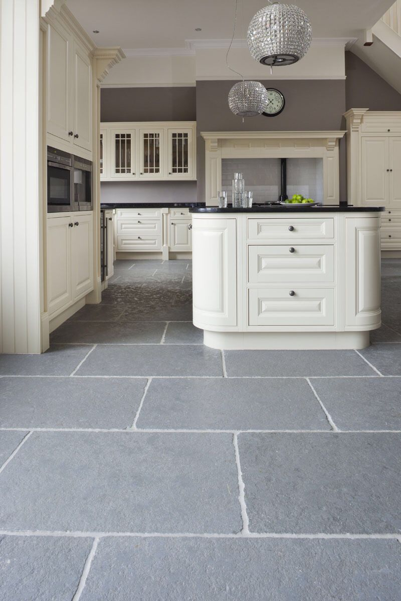 kitchen floor tiles Indian Limestone floor tiles with a worn textured surface and distressed edges for an aged look Beautiful large format limestone floor tiles