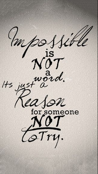 Impossible Is Not A Word iPhone 6 / 6 Plus wallpaper | iPhone Wallpapers | Pinterest ...