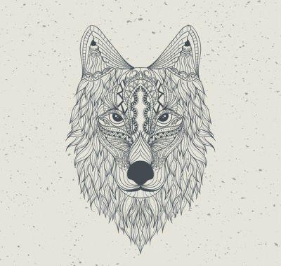aztec, background, draw, hand, hd, pattern, wallpaper, wolf | forest | Pinterest | Aztec ...