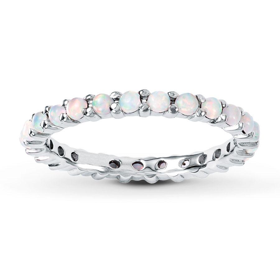 opal wedding ring sets opal stackable ring Kay Stackable Ring Lab Created Opal Sterling Silver Opal Wedding BandsSimple