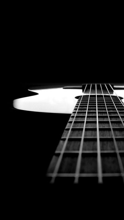 Black and white guitar. Music instrument iPhone wallpapers. Tap to check out more iPhone ...