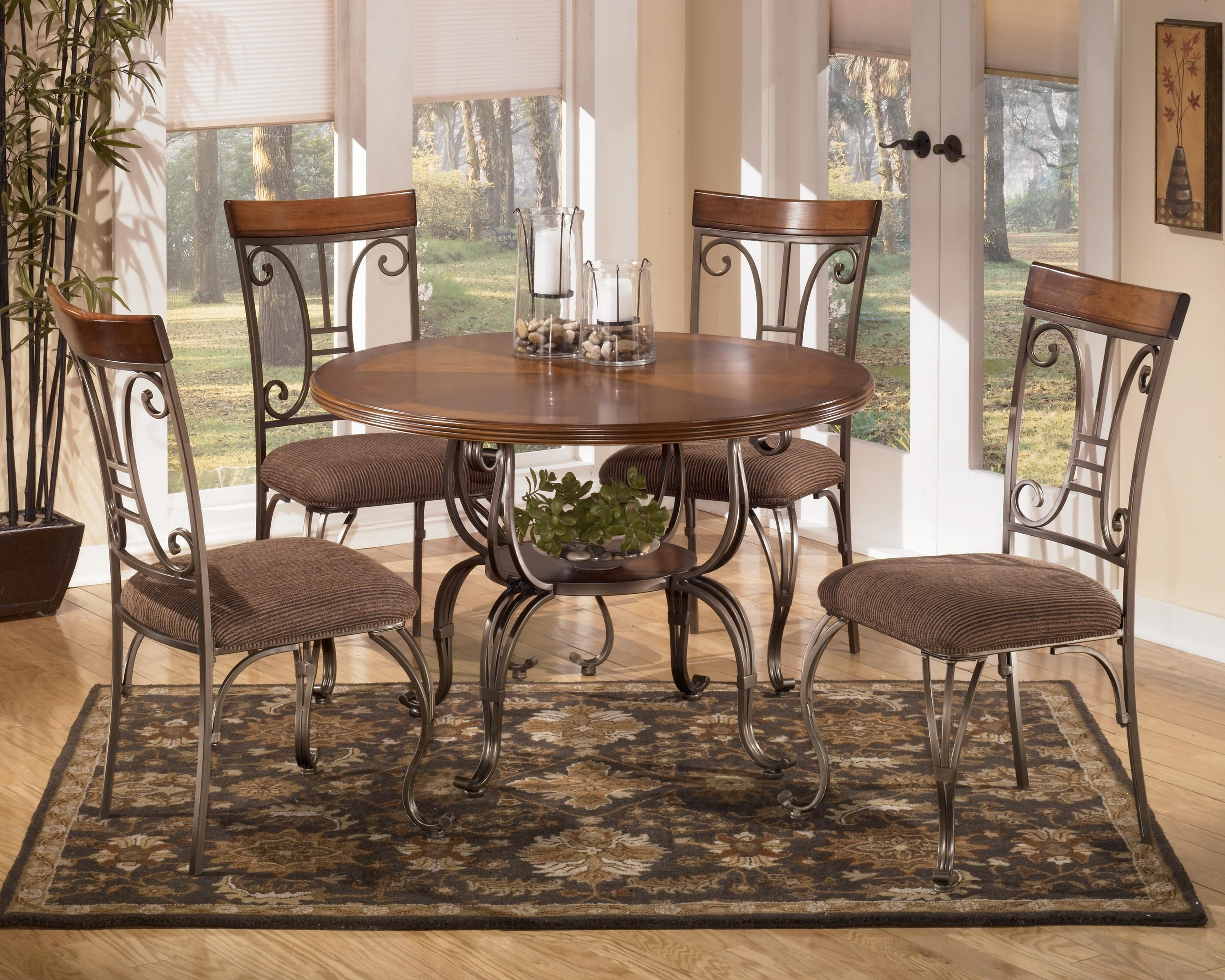 kitchen round table set Plentywood 5 Piece Round Dining Table Set by Signature Design by Ashley