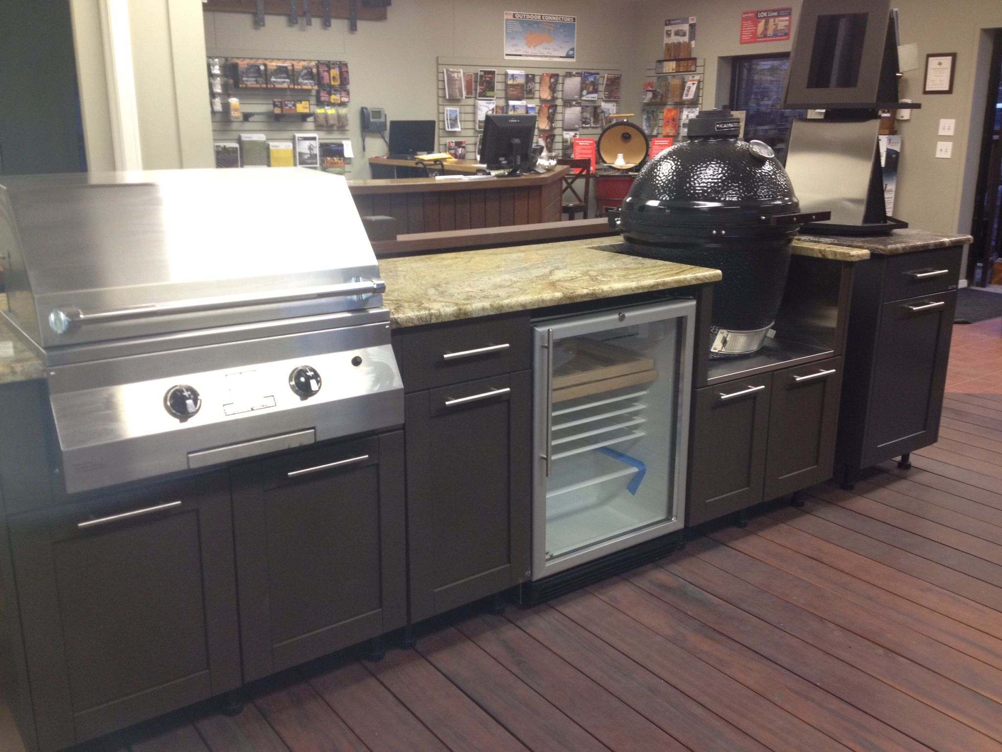 grills outdoor cabinets kitchens outdoor kitchen cabinets Design your own outdoor kitchen using Danver Stainless Cabinets add a Kamado