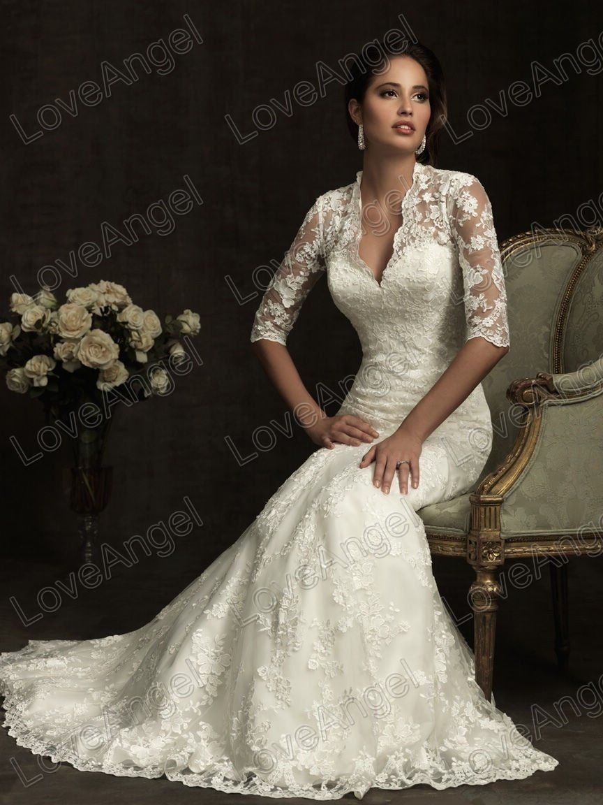 lace vintage wedding dress Similar style to Princess Catherine s wedding gown but no lace Hot Sale