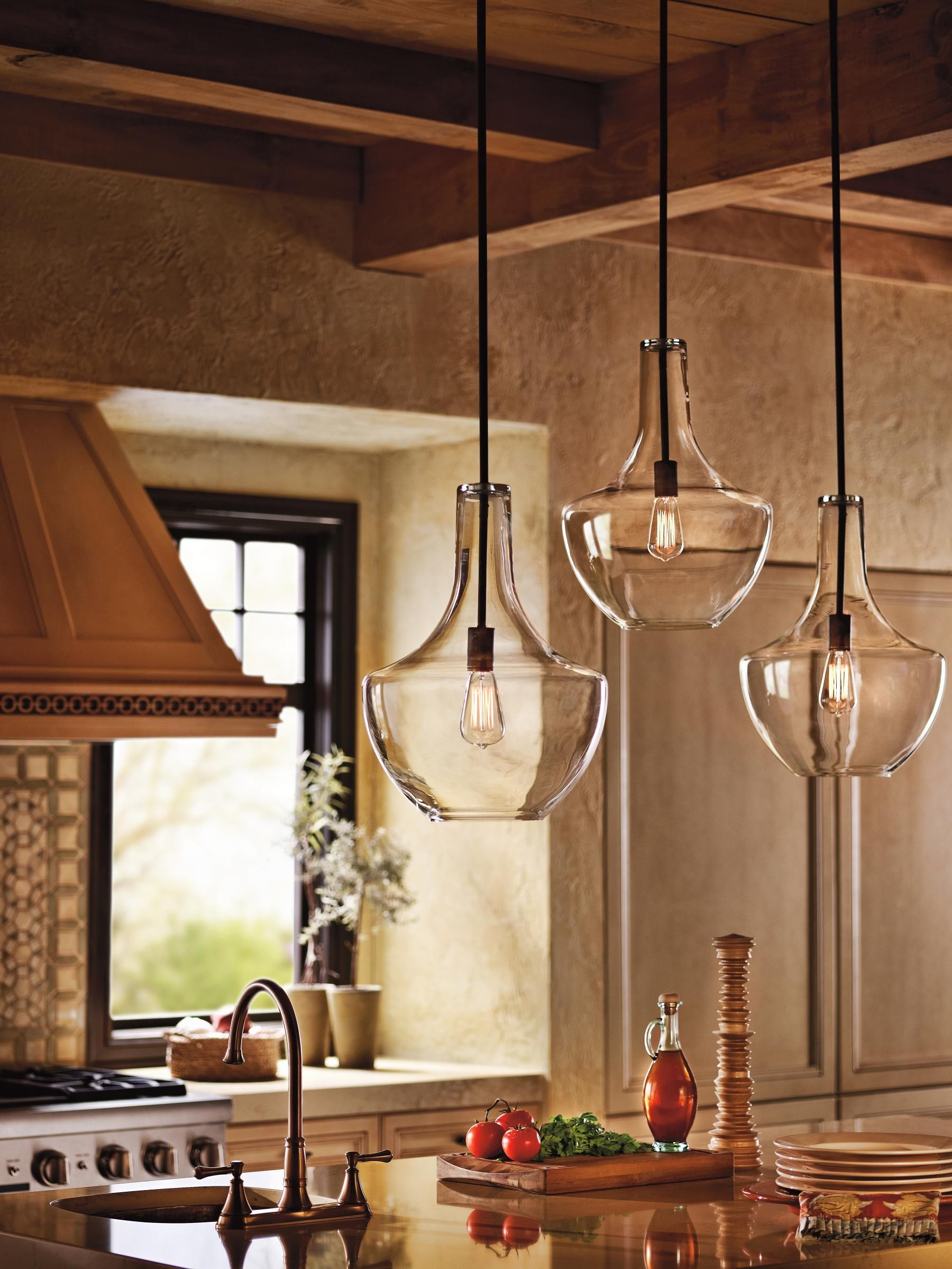 pendant lights for kitchens This transitional style pendant is a perfect option to light up and decorate your kitchen