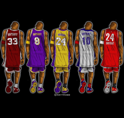 Kobe Bryant Through the Years Illustrated Series | Art | Pinterest | Kobe bryant, Kobe and NBA