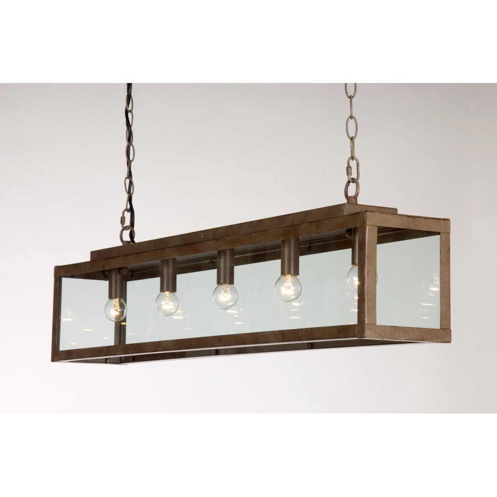 rustic pendant lighting kitchen Linea Verdace ZENIA rustic long bar suspension ceiling pendant light