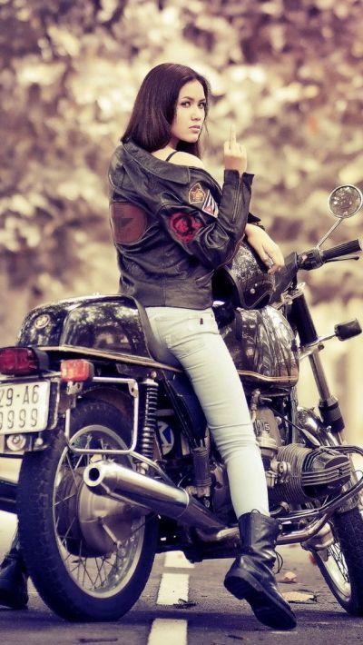 Bike iPhone | Motorcycle Girls | Pinterest | Wallpaper, Girl motorcycle and Biker chick