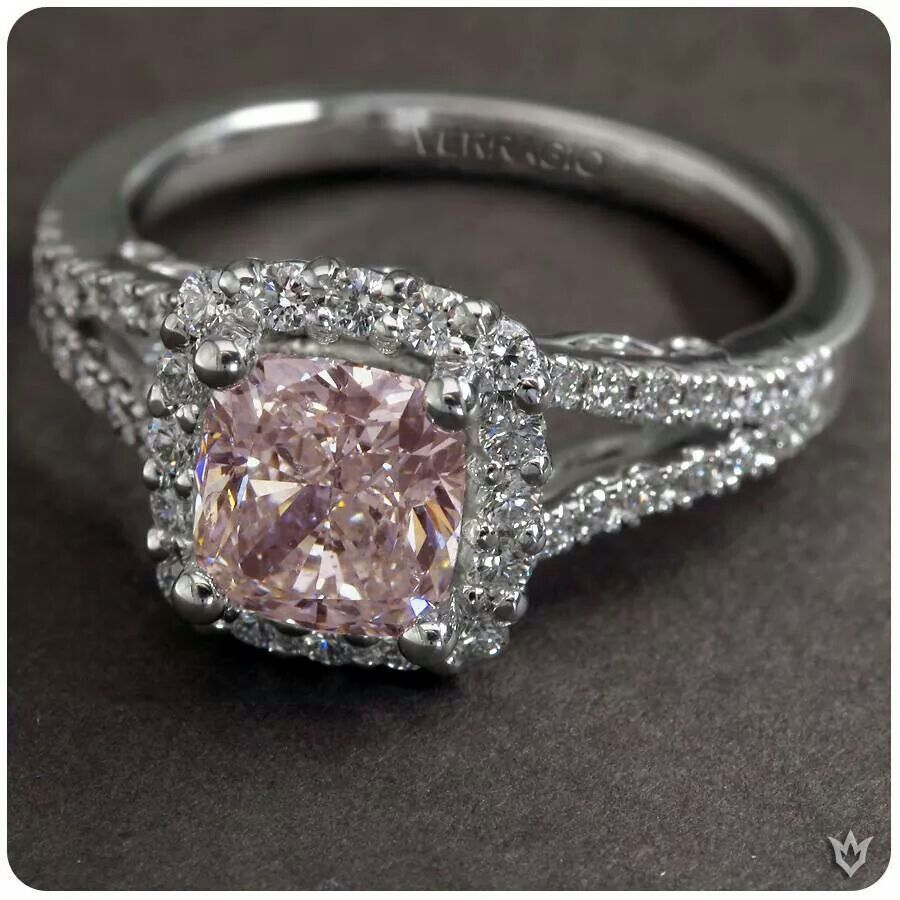 pink diamond wedding rings Yes please Pink Diamond Wedding