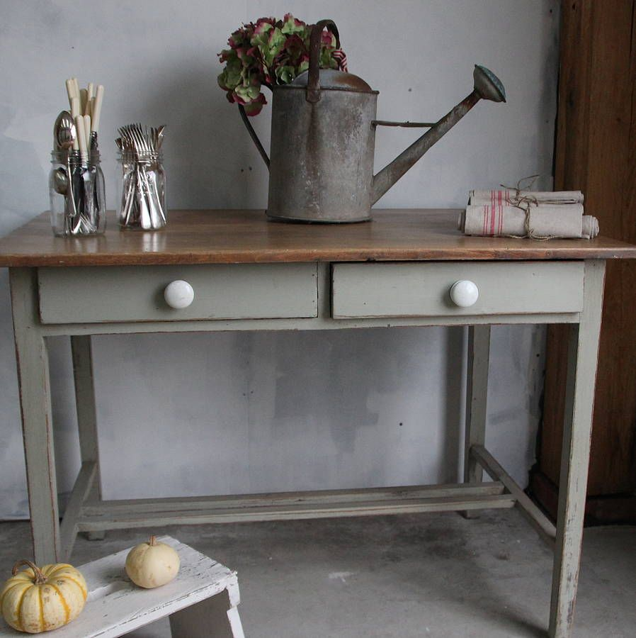 painted kitchen tables a french gray painted kitchen table by ruby and betty s attic notonthehighstreet com