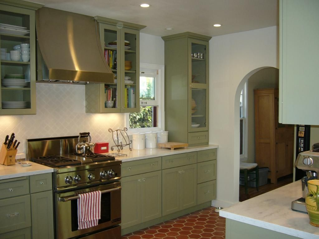 kitchen remodel green kitchen countertops Kitchen Green Painted Kitchen Cabinets Light Green Painting Kitchen Cabinets