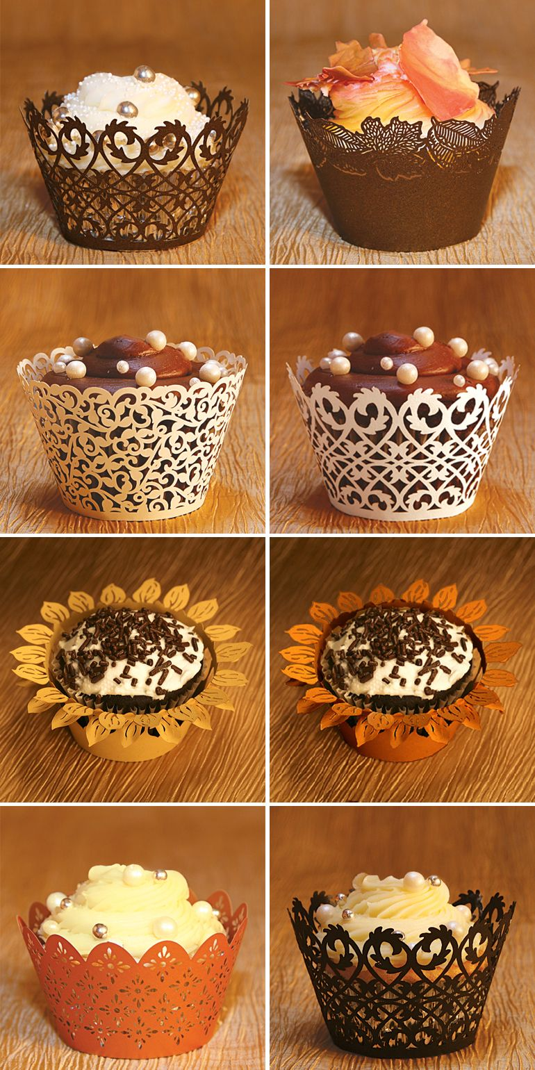 fall wedding favors fall wedding food ideas Fall Wedding Favor Cupcake Wrappers and Liners